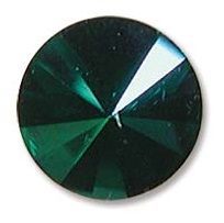 14 mm Swarovski Rivoli Emerald Purple Haze Foiled